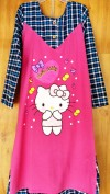 Baju anak perempuan Gamis LITTLE PINEAPPLE (hello kitty pink include kerudung)