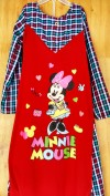 Baju anak perempuan Gamis LITTLE PINEAPPLE (minnie mouse merah include kerudung)