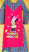 Baju anak perempuan Gamis LITTLE PINEAPPLE (minnie mouse pink include kerudung)