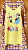 Baju anak perempuan Gamis LITTLE PINEAPPLE (minnie mouse kuning include kerudung)